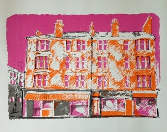 Handmade Scottish Tenement Screenprint