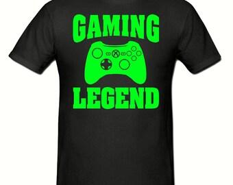 Gaming Legend t shirt, boys t shirt sizes 5-15 years,children's gamer t shirt