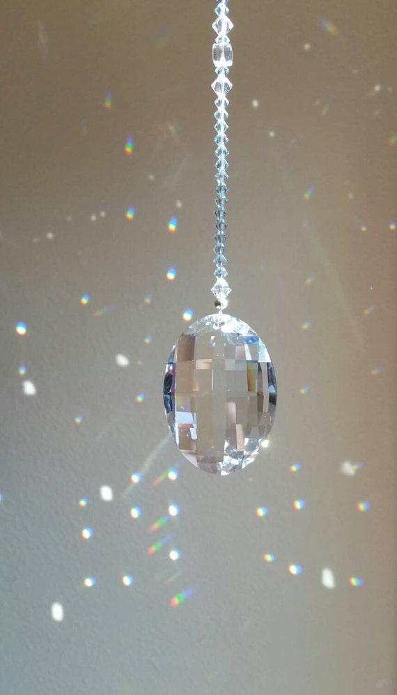 Swarovski crystal suncatcher blue crystal sun catcher for Swarovski decoration crystals