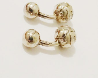 Free Shipping Vintage Solid Sterling Cufflinks