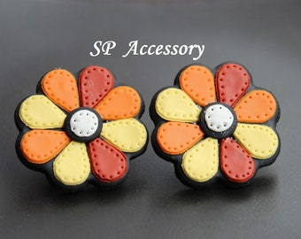 Daisy Earrings, clay flower, Lovely earrings Flower, clay earrings, jewelry earrings