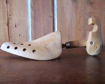 Vintage  1950s Wood Shoe Form Stretchers