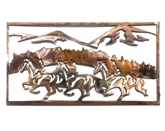Running horses wall art
