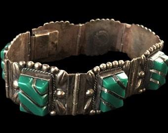 Vintage Signed Taxco Silver Bracelet - Vintage Jewelry, Taxco Jewelry, Bracelets, Silver Bracelets, Sterling Silver Taxco Bracelet