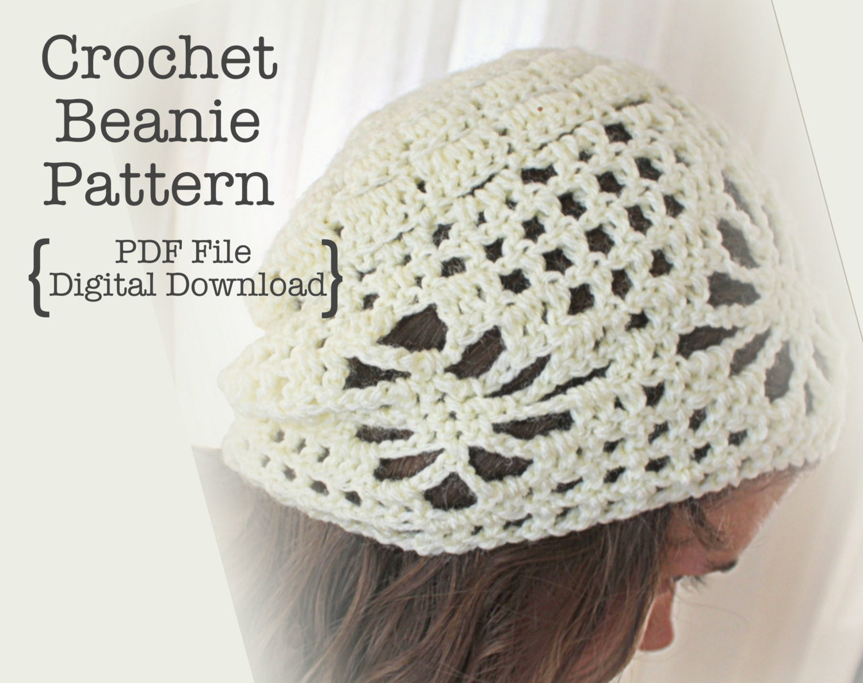Crochet Beanie Pattern Diagram : Crochet Beanie Pattern Crochet Slouchy Hat Beanie by ...