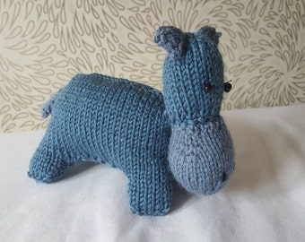 Knitted hippo