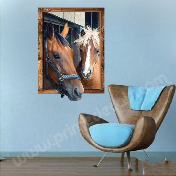 Horse murals decals horse portraits horse picuture sticker for Equestrian wall mural