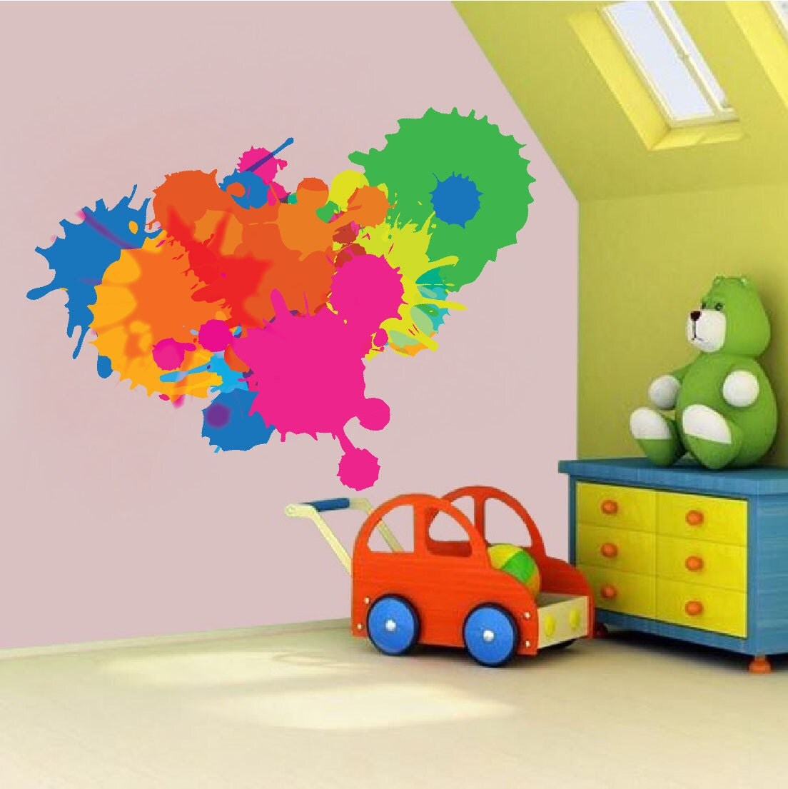 Color decal color splash wall decal paint splash decal zoom amipublicfo Images