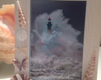 merman photo frame hand crafted photo frame for a merman frame nautical decor beach theme frame a manly looking shell frame