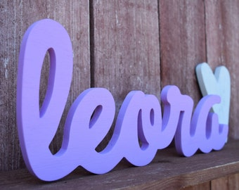 Baby Name Wood Sign - Nursery Decor - Baby name displays, shabby chic nursery decor, wooden baby name