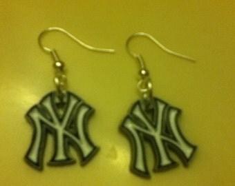 New York Yankee earrings