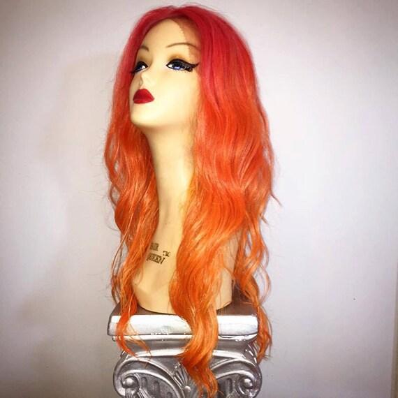Pink And Orange Wig 15