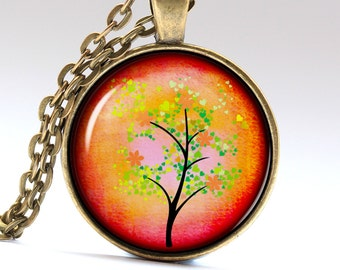 Leaf Fall Necklace Tree of Life Jewelry Autumn Tree Tree of Life Necklace Tree of Life Pendant LG272