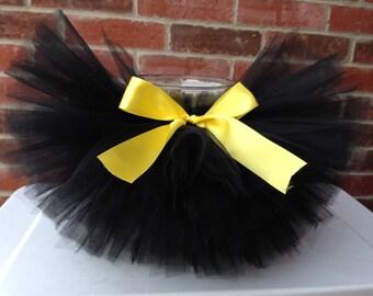 Black and yellow tutu, bumblebee tutu, batman tutu, halloween tutu, costume tutu, baby tutu, newborn tutu, toddler tutu, girl tutu, tutu