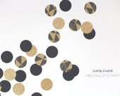 The Great Gatsby Confetti Gold Glitter/Black/Pattern Confetti Circle Confetti Baby/Bridal shower/Birthday Confetti/Gatsby New Year Confetti