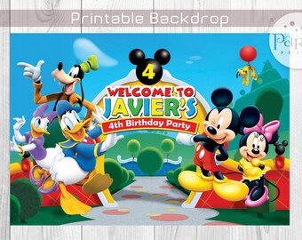 Mickey Mouse Clubhouse Backdrop Banner