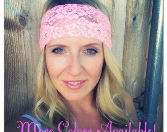 Wide Lace Headband, Stretch Lace Headband, Womens headband, Headband for women, Lace headband for women