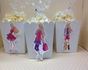 Barbie Party Popcorn or Favor Boxes - Set of 10