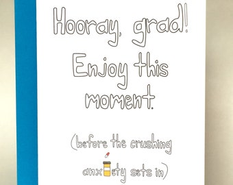 Graduation Card, Happy Graduation, Funny Graduation, Congratulations Card, Funny Congratulations, Graduate, Greeting Card, Funny, C-026
