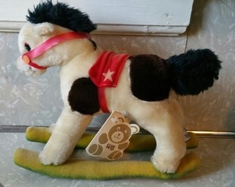 Vintage Wallace Berrie Rocking Horse Plushie 1982