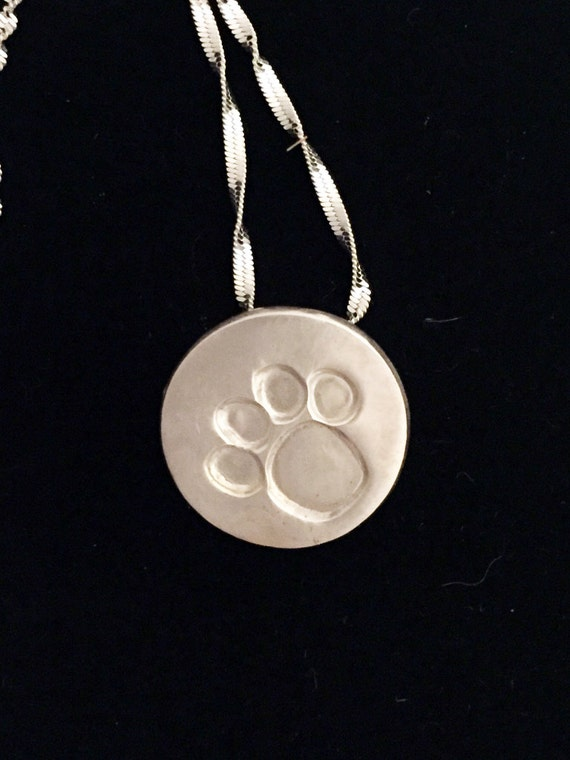 Silver Paw Cavachons: Dog Paw Necklaces Sterling Silver Paw Pendant Dog Paw