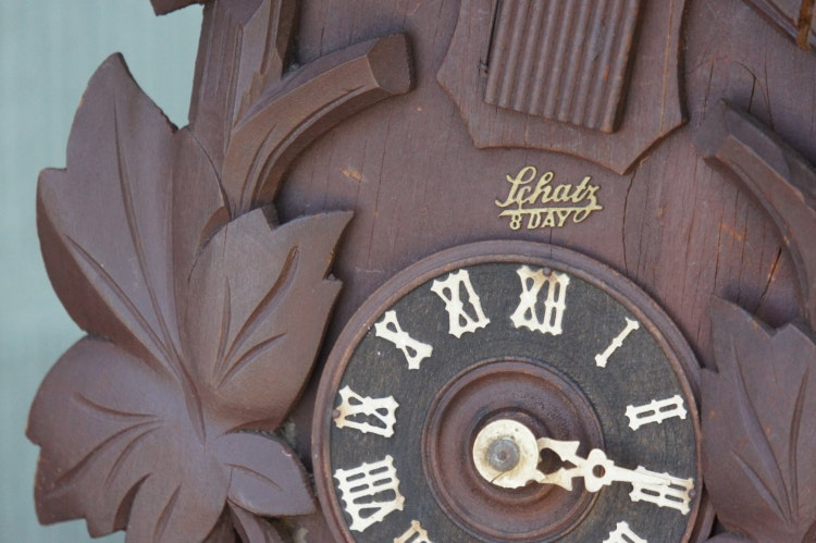 Vintage Schatz 8 Day Cuckoo Clock Maple By