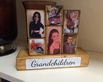 Photo Stacking Blocks / Photo Blocks / Grandparent / Grandchild / Grandchildren / Photo Gift Idea / Grandchild Gift / Gift for Mum / Grandad