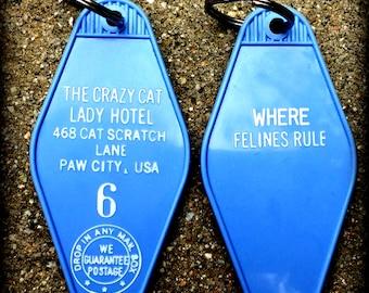 Crazy Cat Lady Hotel Keytag