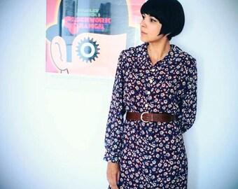 Lovely flower 70s dress