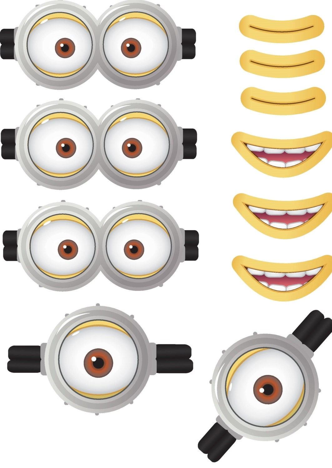 Clean image regarding minion eye printable