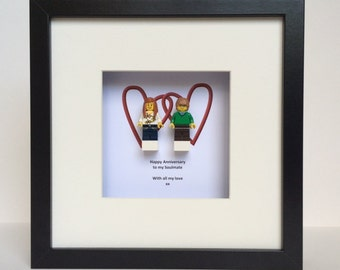 Lego® Couple in Love Minifigure Wedding/ Anniversary Gift Picture
