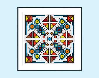 Cross stitch pattern, modern cross stitch pattern, mexico cross stitch pattern, instant download