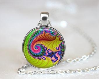 Fractal Necklace, Sacred Geometry Necklace, Mandelbrot Necklace, Fractal Pendant