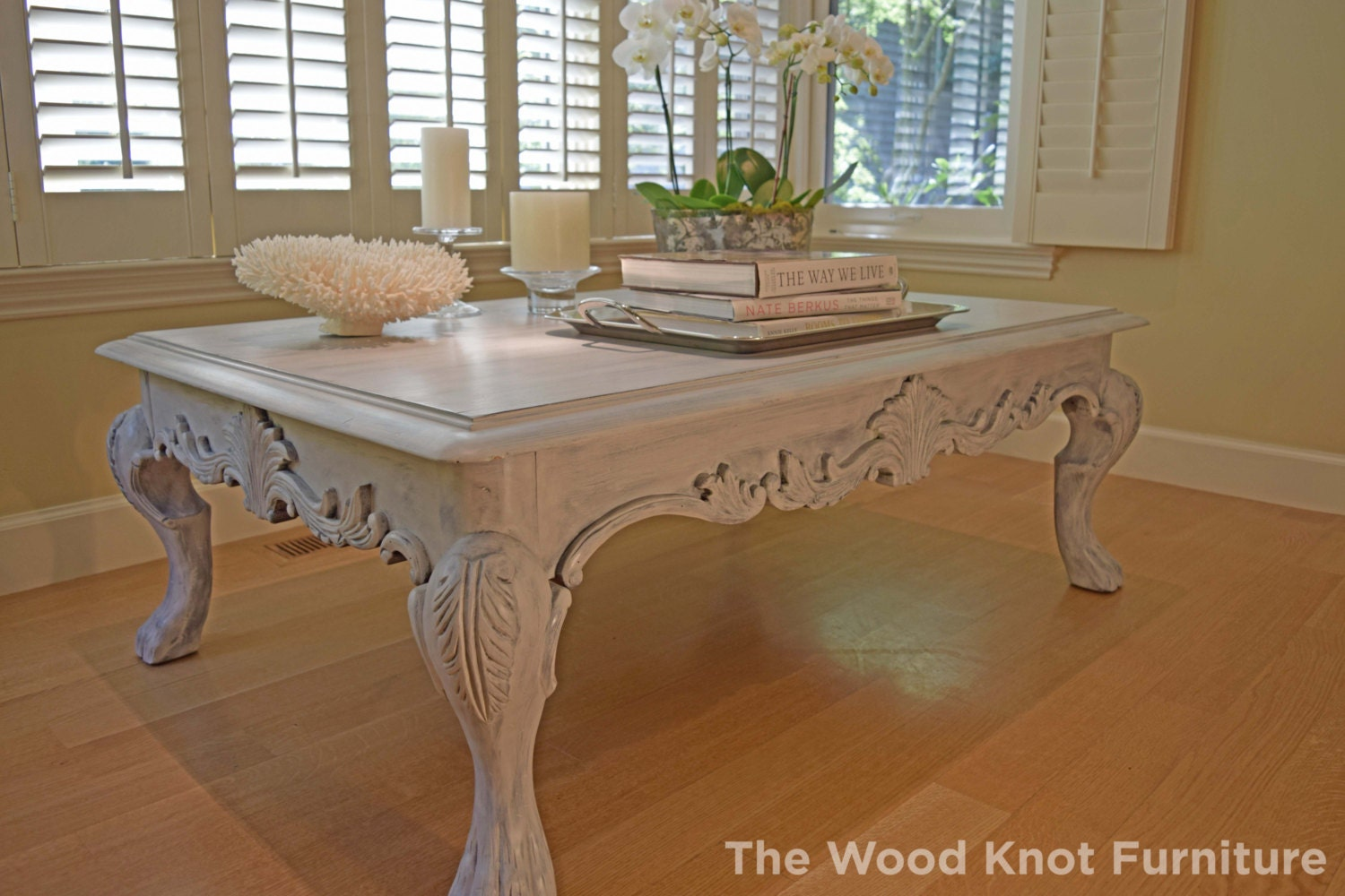 Coffee Table Paris Grey And White Annie Sloan Chalk Paint