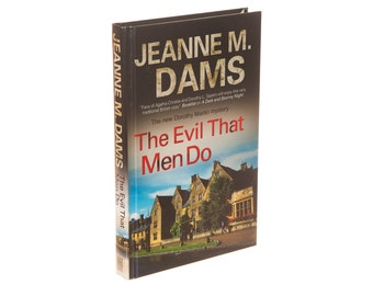 Hollow Book Safe - The Evil That Men Do by Jeanne M. Dams (Magnetic Closure)