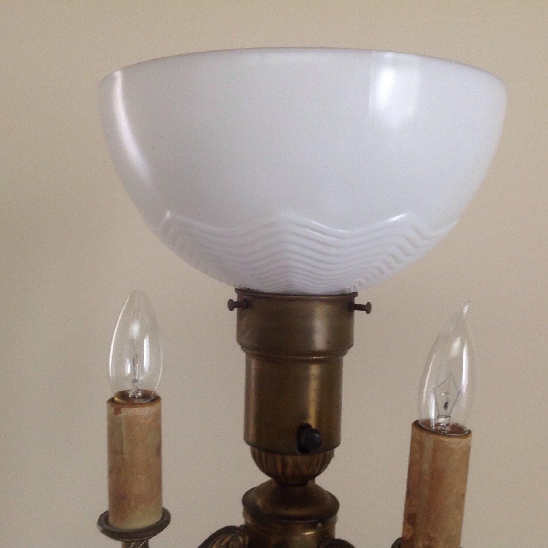 vintage art deco metal 3 arm bronze candelabra torchiere. Black Bedroom Furniture Sets. Home Design Ideas