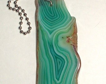 Agate Slice Fan Pull Lamp Chain Pull Slice 91x34x5mm Decorative Fan Chain Pull - Protection Stone