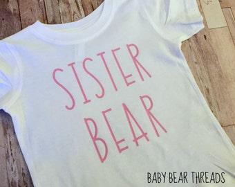 Pink Sister Bear - Baby Bodysuit - Kid Shirt