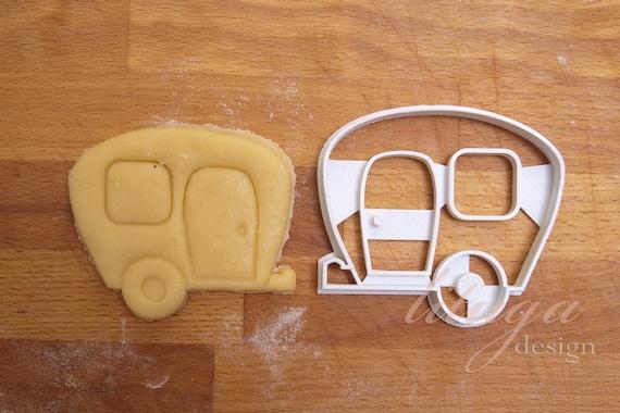 Cookie cutter in de vorm van caravan. Koekjes Caravan