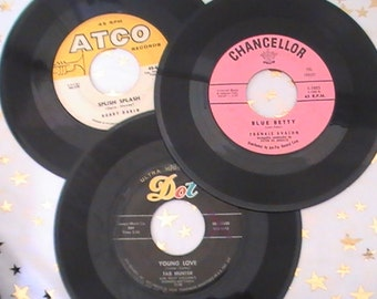 """Twenty Five """"Teen Idols"""" 45 RPM Records From the 50's"""