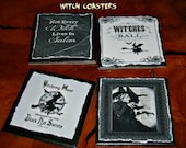 Witch Coasters!  It's Halloween Baby!
