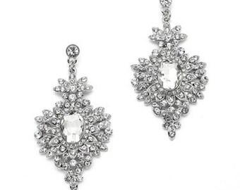 Angeline Art Deco Glam Crystal Drop Earrings