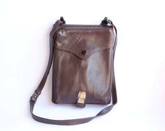 Vintage Army Bag, Officer's Bag.Crossbody Bag leathr