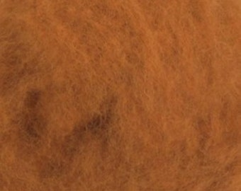 Carded Maori New Zealand Wool for Needle and Wet Felting - Cinnamon