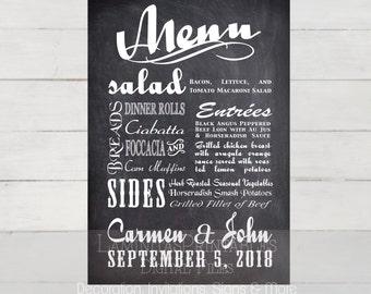 Wedding menu, Wedding menu template, Wedding menu cards, Wedding menu printable, Wedding menu sign, menu chalkboard, bar menu, bar menu sign