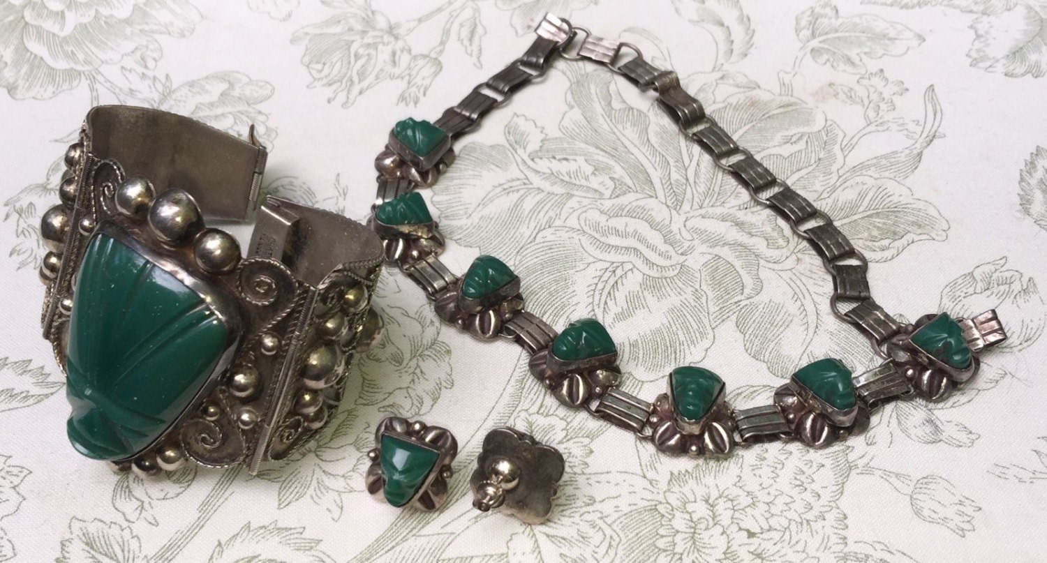 Vintage Mexican Sterling Jewelry 14
