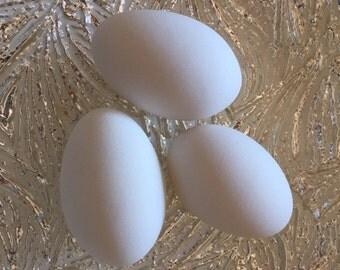 Ceramic Eggs, 3 DIY Goose Eggs