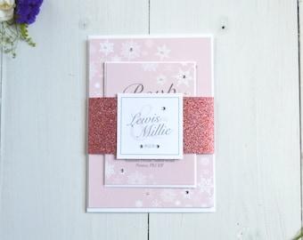 Sparkling Snowflake Wedding Invitations