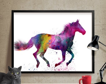 Horse Art Watercolor Painting, Horse painting, Watercolor Painting, Watercolor Horse Print, Wall decor, Wall Art, Fine Art Print, horse (42)