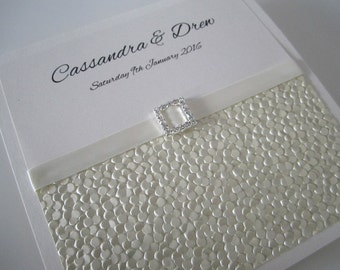 Handmade Square 'Cassandra' Modern Wedding Invitation